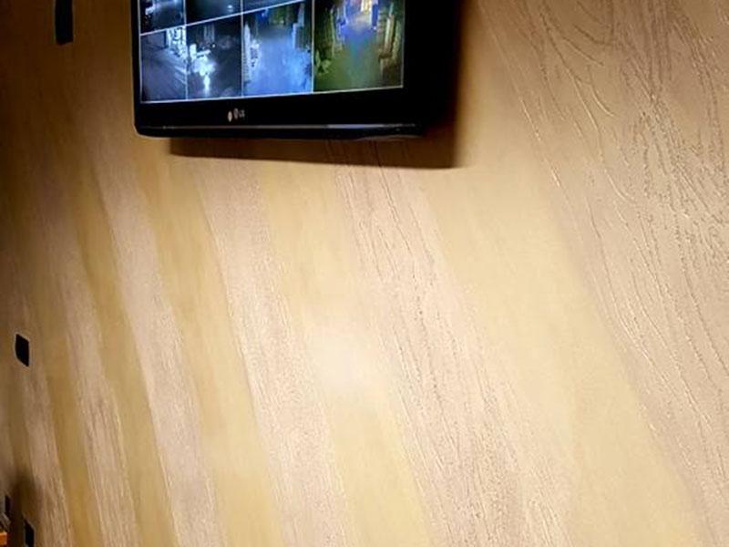 Stunning impulso stato utilizzato per ottenere una parete con effetto legno finitura realizzata - Rivestire parete in legno ...